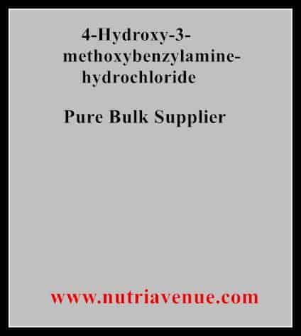 4-Hydroxy-3-methoxybenzylamine Hcl