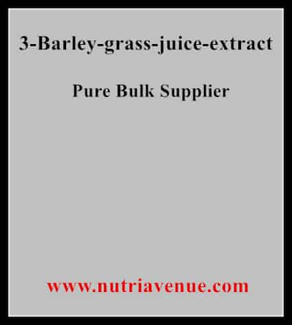 Barley Grass Juice Extract
