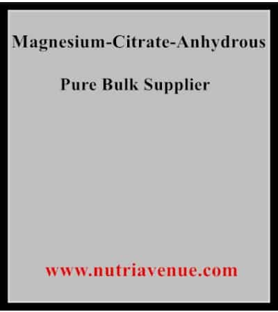 Magnesium Citrate Anhydrous