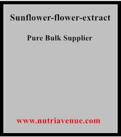 Sunflower flower extract