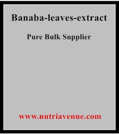 Banaba Leaves Extract