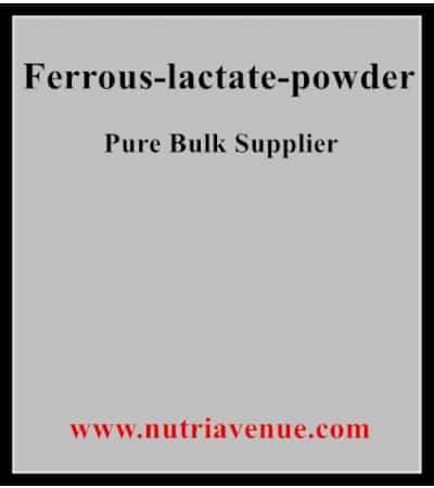 ferrous lactate powder