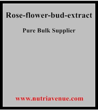 rose flower bud extract